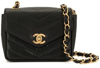 Chanel Pre Owned V Stitch Chain Shoulder Bag