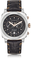 Trussardi 1911 Stainlees Steel W/Croco Leather Strap Men's Chronograph Watch
