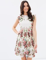 Oasis Tiered Pleated Skater Dress
