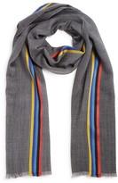 Paul Smith Stripe Wool Blend Scarf