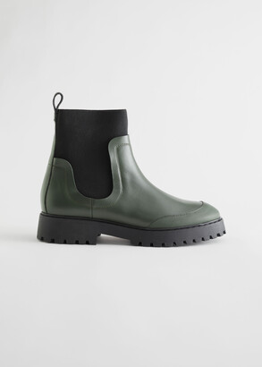 And other stories Elasticated Leather Chelsea Boots