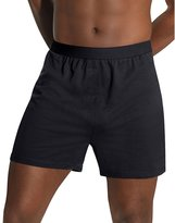 Hanes Men`s TAGLESS Knit Boxers 3X-5X - Best-Seller, HN255K, 4XL, Black/Grey