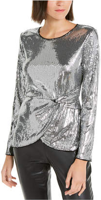INC International Concepts Inc Twisted Sequined Top