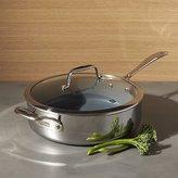 Crate & Barrel ZWILLING ® J.A. Henckels VistaClad Ceramic Non-Stick 5 qt. Sauté Pan with Lid
