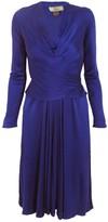 Issa Indigo Silk-Jersey Wrap Dress