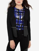 The Limited Eva Longoria Power Ponte Faux Leather Jacket