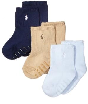 Polo Ralph Lauren Ralph Lauren Baby Boys Crew Socks 3-Pack
