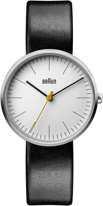 Braun Womens Analogue Classic Quartz Watch with Leather Strap BN0173WHBKL