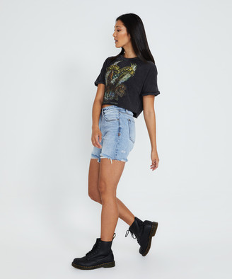 The People Vs Freedom Eagle Crop T-Shirt Black