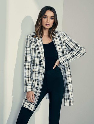 Forever New Talia Boucle Jacket - Check - 16