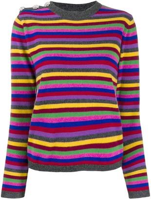 Ganni striped cashmere jumper