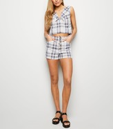New Look Cameo Rose Check Button Front Shorts