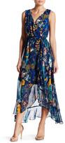 Sangria Floral Wrap Maxi Dress (Petite)