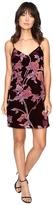 Brigitte Bailey Kleo Spaghetti Strap Floral Velvet Dress