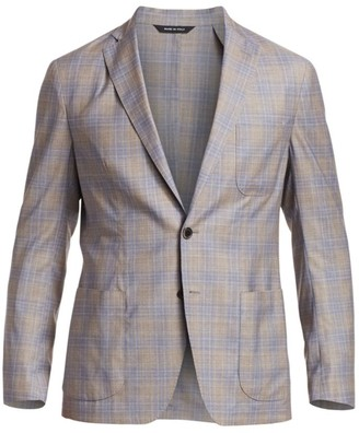 Saks Fifth Avenue COLLECTION Travel Plaid Sportcoat