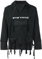 Kokon To Zai embroidered gathered pocket jacket - men - Polyester - S