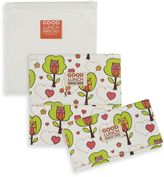SugarBooger by o.r.e Good Lunch Set of 3 Snack Sack in Hoot!