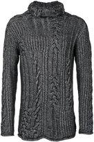 Rochas high neck jumper - men - Silk/Polyamide/Cashmere - L