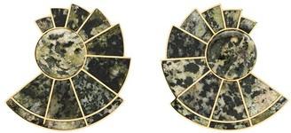 Monica Sordo Nautilus unakite earrings