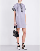 J.W.Anderson Contrast-panel chambray-cotton dress