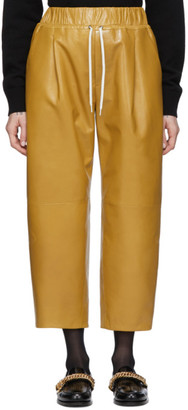Givenchy Yellow Leather Drawstring Trousers