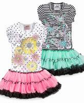 Beautees Kids Dress, Little Girls Graphic Tutu Dress