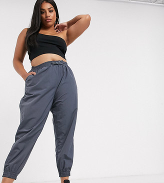 ASOS DESIGN Curve shell jogger in charcoal
