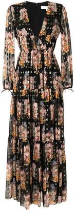Borgo de Nor Semi-Sheer Floral Maxi Dress