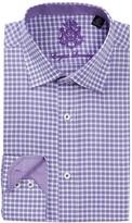 English Laundry Glen Plaid Trim Fit Dress Shirt
