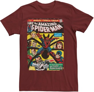 Spiderman Licensed Character Men's Marvel Return Of The Punisher Comic Tee