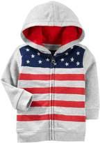 Osh Kosh Oshkosh Bgosh Baby Boy Flag Zip Hoodie