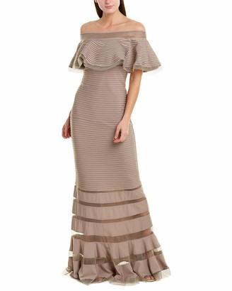 Tadashi Shoji Women's Ruffle Off Shoulder Gown