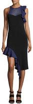 Jonathan Simkhai Hanging Ruffle Asymmetric-Hem Cocktail Dress