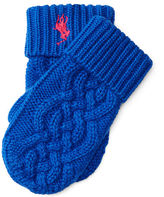 Ralph Lauren Cable Cotton Mittens