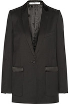 Givenchy Tuxedo Jacket In Wool-twill - Black