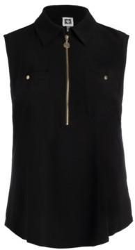 Anne Klein Plus Size Half-Zip Top