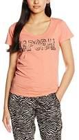 Kaporal Women's Round Collar Short Sleeve T-Shirt - Red -