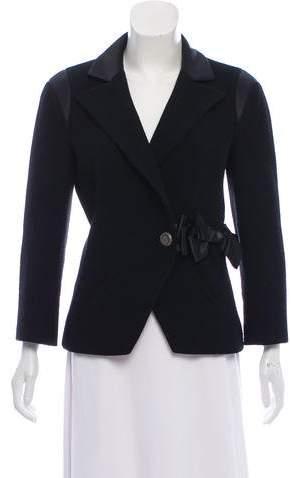 Chanel Silk-Trimmed Wool Blazer
