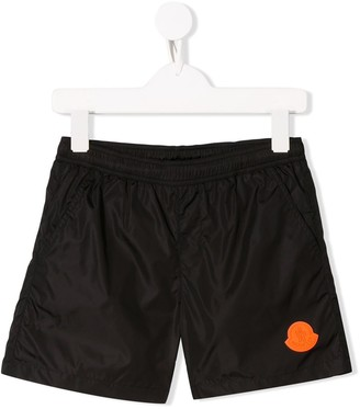Moncler Enfant Logo Swim Shorts
