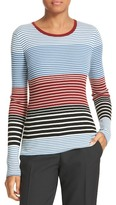 Theory Mirzi Stripe Rib Knit Merino Sweater
