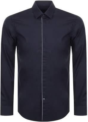 HUGO BOSS Boss Business Long Sleeved Jivan Shirt Navy