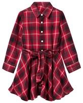 Ralph Lauren Red Plaid Flannel Shirt Dress