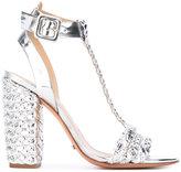 Schutz woven sandals - women - Leather/Polyester - 37