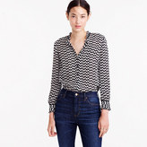 J.Crew Silk button-up in geometric houndstooth
