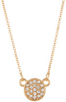 Stephan & Co Short Pave Circle Necklace