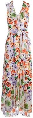 Alice + Olivia Evelia Ruffle Maxi Dress