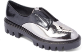 Sixty Seven Black & Silver Patent Mira Leather Oxford