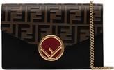 Fendi FF logo leather shoulder bag