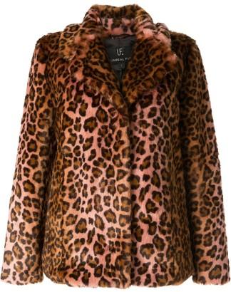 Unreal Fur Leopard-Print Jacket