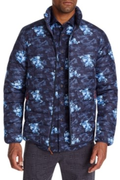 Tallia Men's Slim-Fit Water Resistant Floral Camo Puffer Jacket